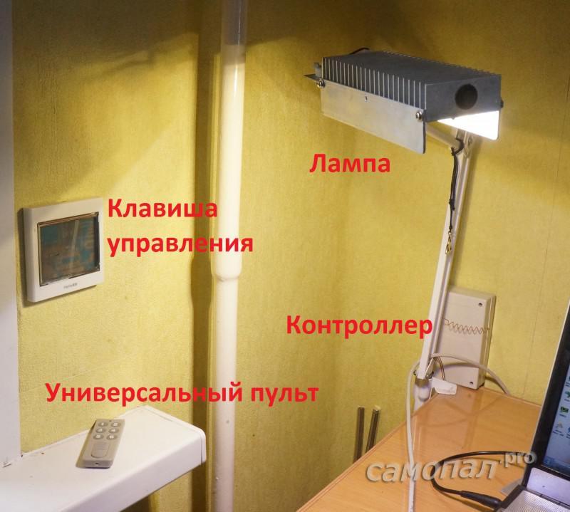 Управление лампой