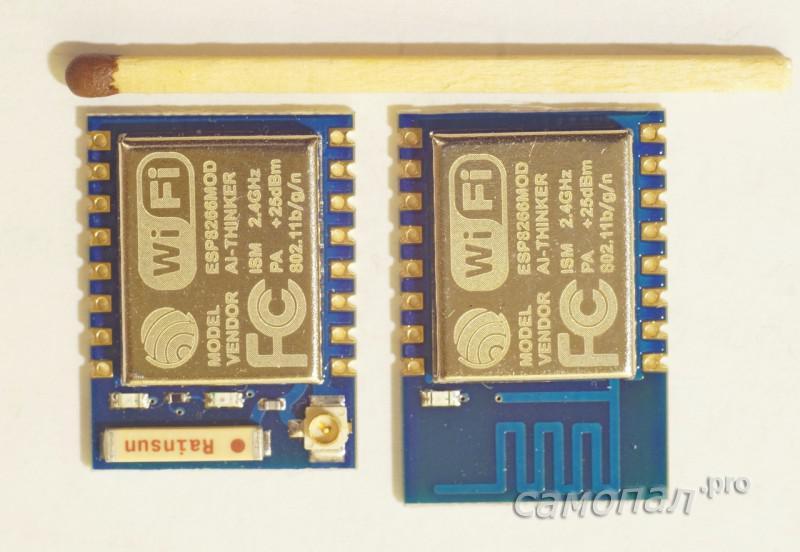 Модули ESP8266 ESP07 и ESP12