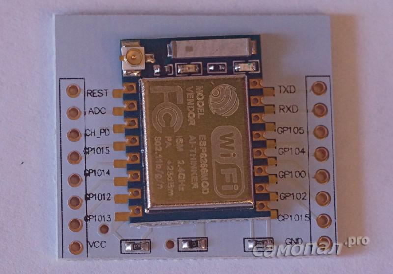 ESP8266 на плате адаптере