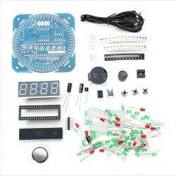 2015-NEW-DIY-DS1302-Rotation-LED-Electronic-Clock-Kit-51-SCM-Learning-Board