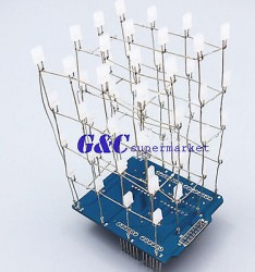 4X4X4-Light-Cube-Kit-shield-LED-DIY-suite-Kit-Blue-