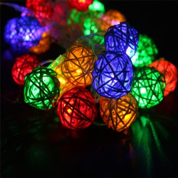 8-Modes-4M-20Leds-3cm-Big-Rattan-Ball-Colorful-Warm-White-White-LED-String-Christmas-Lights