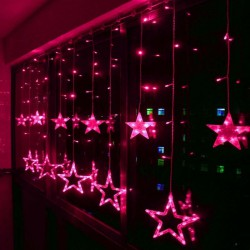Christmas-Holiday-Wedding-Curtain-Lights-2m-12pcs-Big-Stars-Pendant-Led-String-Fairy-Lights-Garland-2