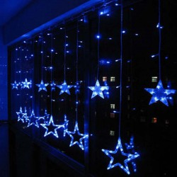 Christmas-Holiday-Wedding-Curtain-Lights-2m-12pcs-Big-Stars-Pendant-Led-String-Fairy-Lights-Garland