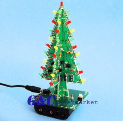 Christmas-Trees-LED-DIY-Kit-Professional-Red-Green-Flash-LED-Circui