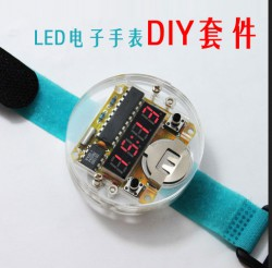 DIY-LED-Digital-Watch-Electronic-Clock-Kit-With-Transparent-Cover