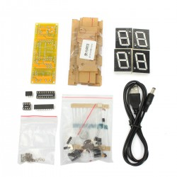 Newest-Excellent-Quality-fashion-DIY-kit-Digital-LED-Electronic-Microcontroller-Clock-Large-Screen-display-time-2
