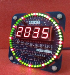 Unassembled-V1-2-Version-51-MCU-Rotating-LED-Electronic-Clock-Kit-DIY-Parts-DS1302-Clock-18b20