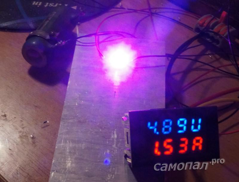 Тестирование светодиодов с полным спктром