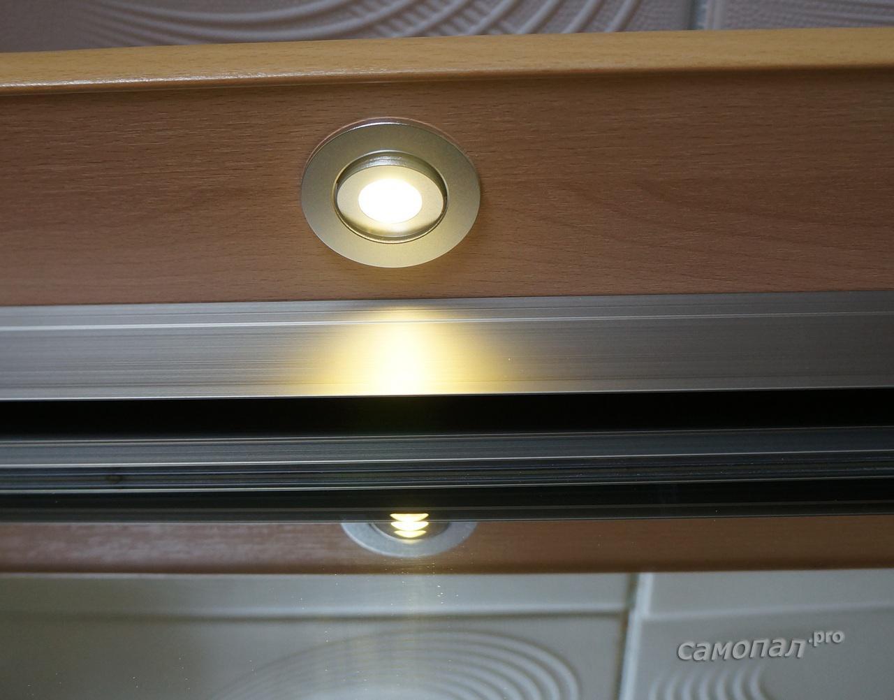 Шкаф купе с подсветкой фото своими руками