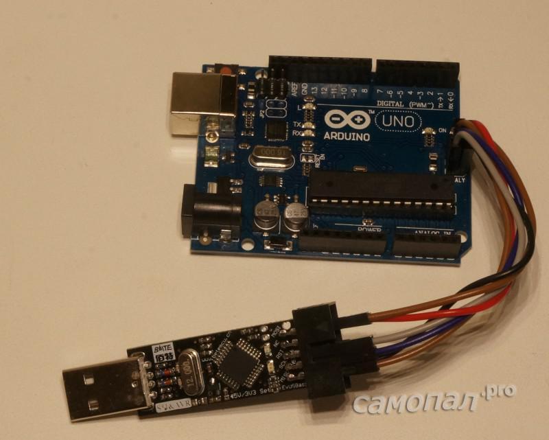 Программатор USBASP + Arduino UNO