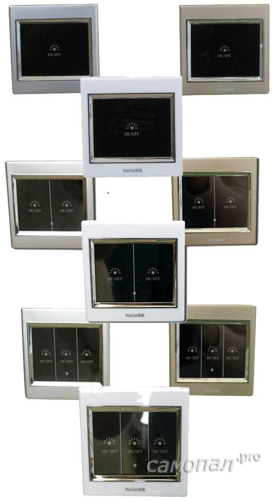 Ассортимент сенсорных выключателей HAILE
