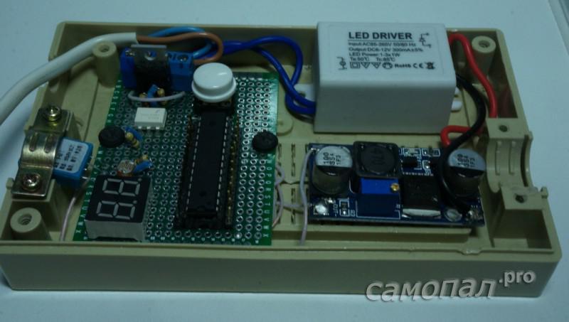 Контроллер управления влажностью. Вид изнутри