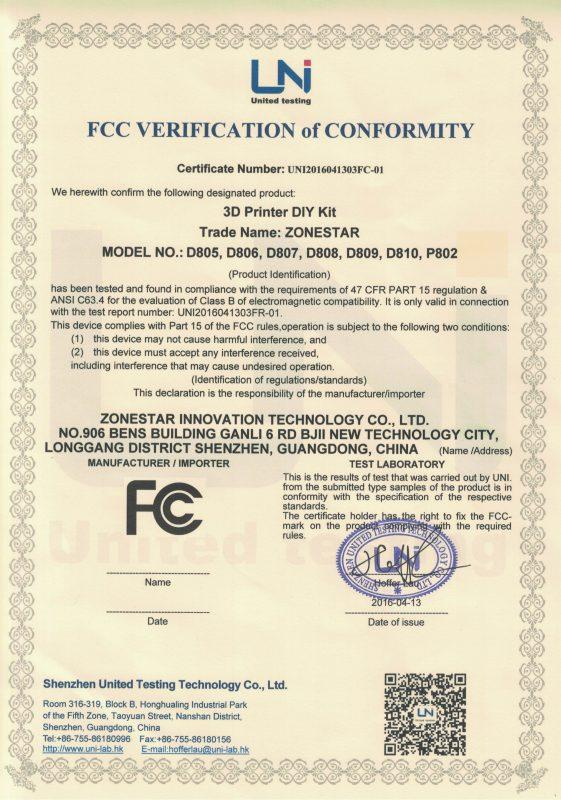 zonestar-d80x-p802-fcc-certification