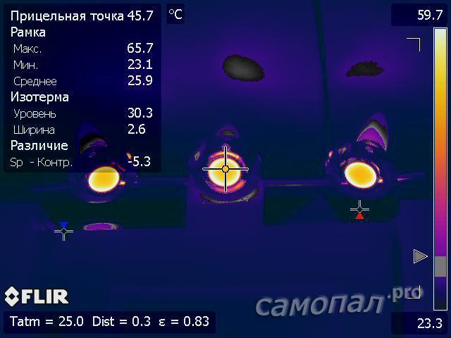 Исследование самодельных светильников тепловизором. Лампочки E14
