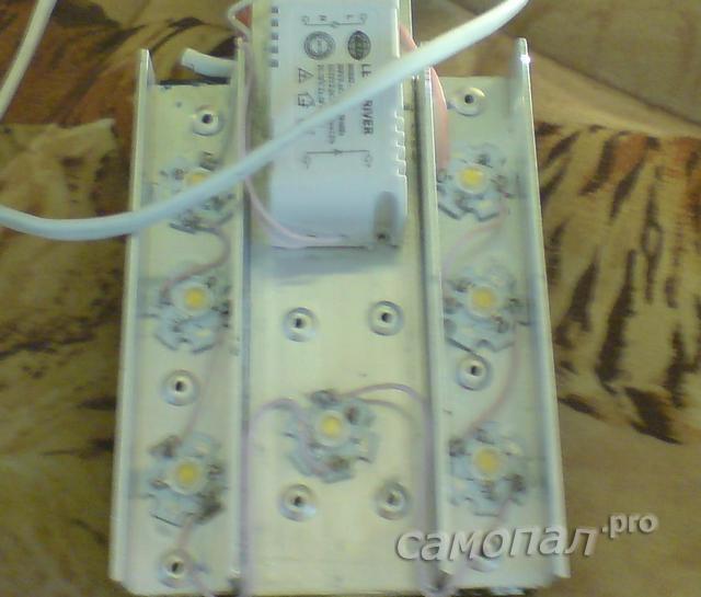 Исследование самодельных светильников тепловизором. Переноска