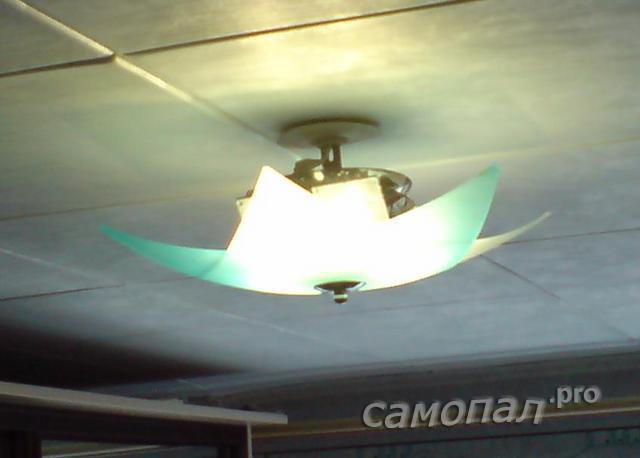 Исследование самодельных светильников тепловизором. Люстра в сральне