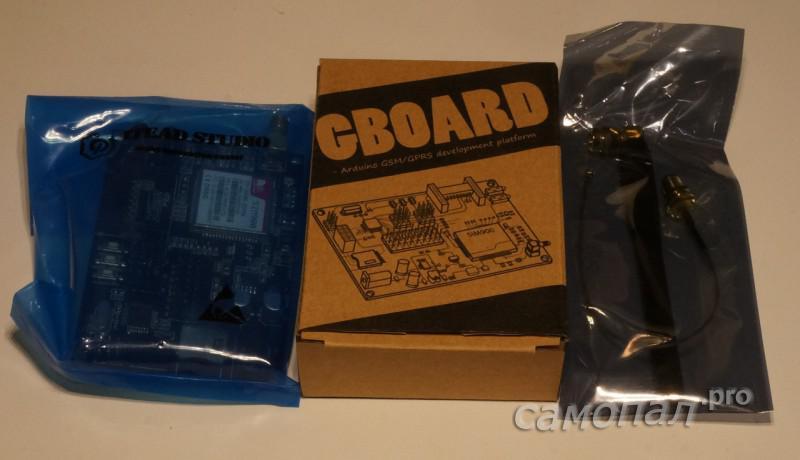 Плата GBOARD в упаковке