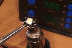 Пайка светодиодов на паяльную пасту термофеном