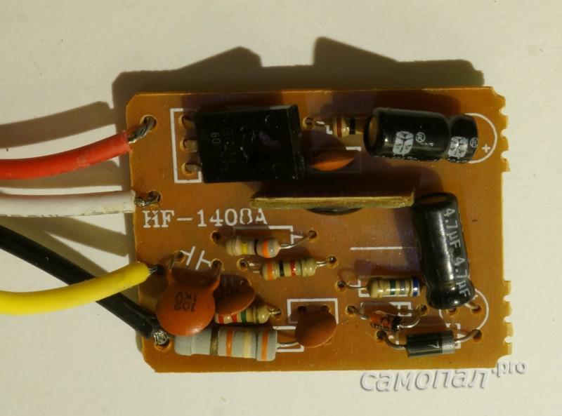 Сенсорный выключатель с симистором BT134