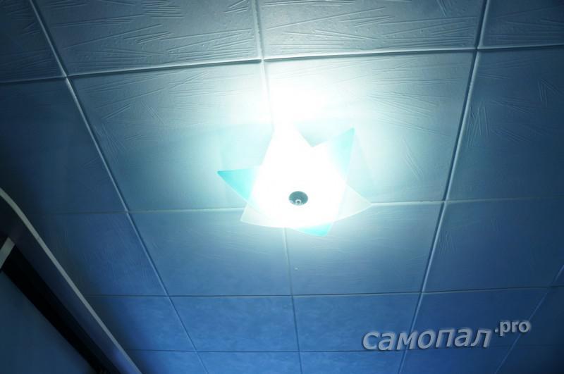 Готовый светильник в работе