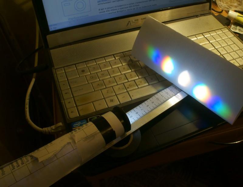 Спектр белого светодиода