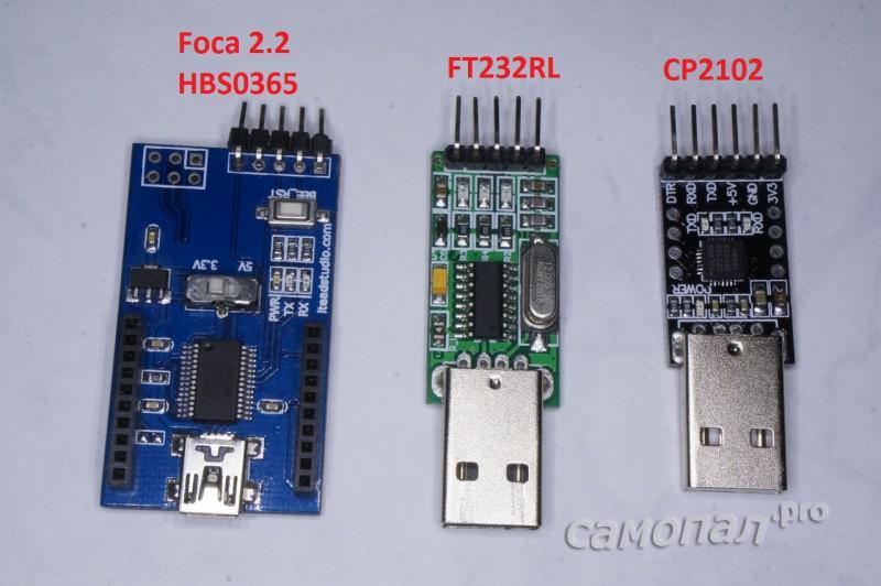 Сравнение CP2102 с другими конвертерами